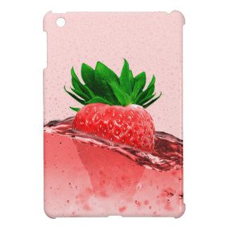 Fresh strawberry juice iPad mini case