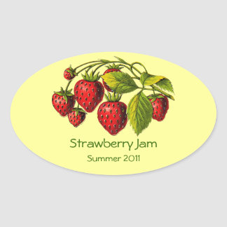 Fresh Strawberry Preserves Label