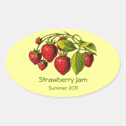 Fresh Strawberry Preserves Label Sticker