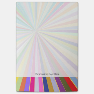 Fresh striped background post-it® notes