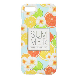 Fresh Summer Fruits and Exotic Plumeria Flowers iPhone 8/7 Case