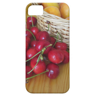 Fresh summer fruits on light wooden table barely there iPhone 5 case