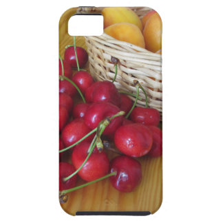 Fresh summer fruits on light wooden table case for the iPhone 5