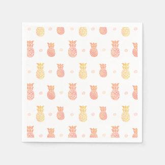 Fresh Summer Pineapple Paper Serviettes