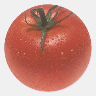 Fresh Tomato Classic Round Sticker