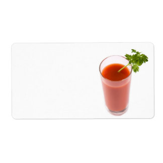 Fresh tomato juice cocktail shipping label