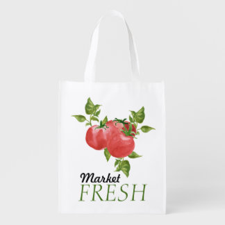 Fresh Tomatoes and Basil Market