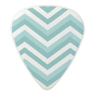 Fresh Turquoise Aquatic chevron zigzag pattern Acetal Guitar Pick