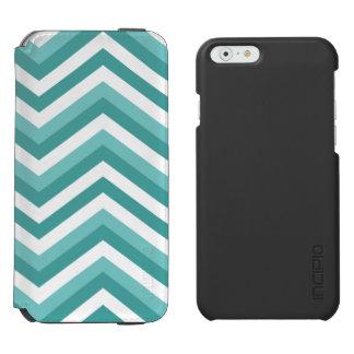 Fresh Turquoise Aquatic chevron zigzag pattern Incipio Watson™ iPhone 6 Wallet Case
