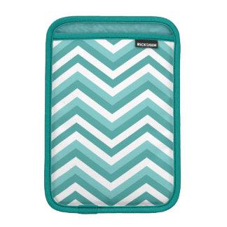 Fresh Turquoise Aquatic chevron zigzag pattern iPad Mini Sleeve