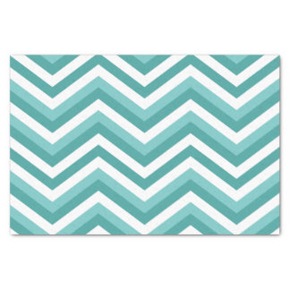 Fresh Turquoise Aquatic chevron zigzag pattern Tissue Paper