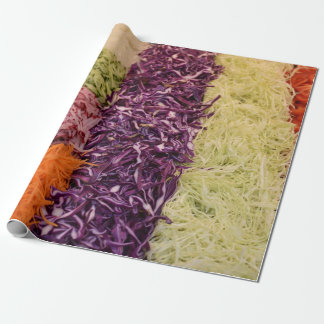 Fresh vegetables salad wrapping paper