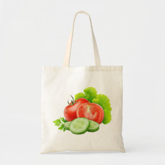 Fresh vegetables budget tote bag