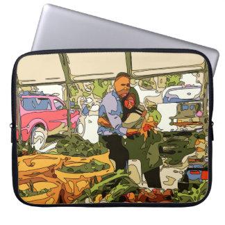 Fresh Veggies at the Farmers Market Laptop Sleeves