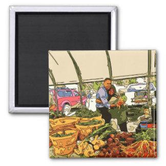Fresh Veggies at the Farmers Market Magnets