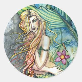 Fresh Water Mermaid Sticker by Molly Harrison