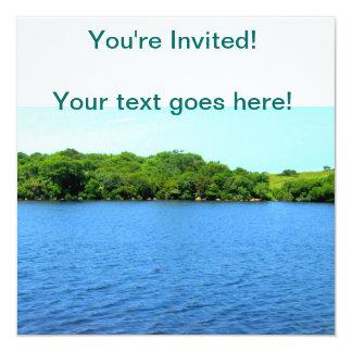 Fresh Water Pond Block Island 13 Cm X 13 Cm Square Invitation Card