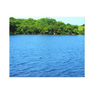 Fresh Water Pond Block Island Gallery Wrap Canvas