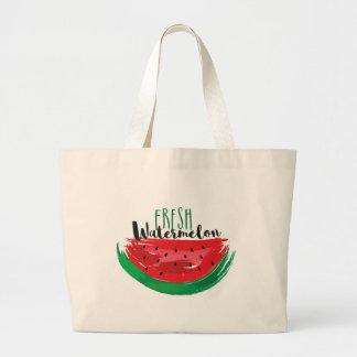 Fresh Watermelon. Large Tote Bag