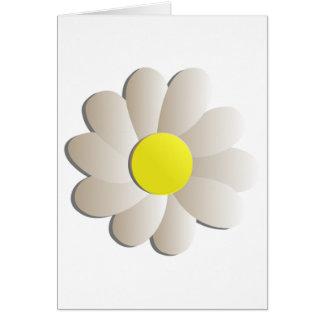 FRESH WHITE DAISY FLOWER, SPRING TIME FLOWER GREETING CARD