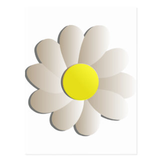 FRESH WHITE DAISY FLOWER, SPRING TIME FLOWER POSTCARD