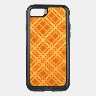 Fresh Yellow and Orange Plaid OtterBox Commuter iPhone 8/7 Case