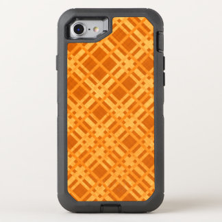 Fresh Yellow and Orange Plaid OtterBox Defender iPhone 8/7 Case