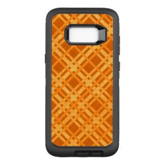 Fresh Yellow and Orange Plaid OtterBox Defender Samsung Galaxy S8+ Case