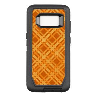 Fresh Yellow and Orange Plaid OtterBox Defender Samsung Galaxy S8 Case