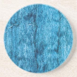 Freshly Dyed Blue Handmade Thai Silk Drink Coasters