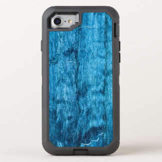 Freshly Dyed Blue Handmade Thai Silk OtterBox Defender iPhone 8/7 Case