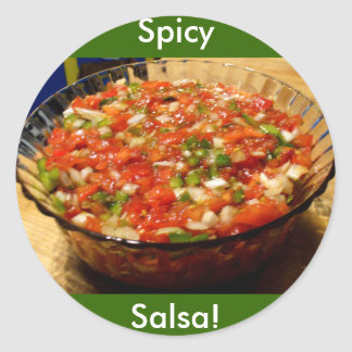 Freshly Made Salsa Classic Round Sticker