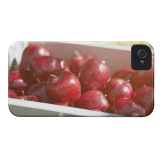 Freshly picked apples in tray. iPhone 4 case