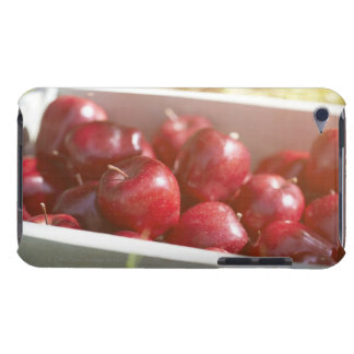 Freshly picked apples in tray. iPod touch covers