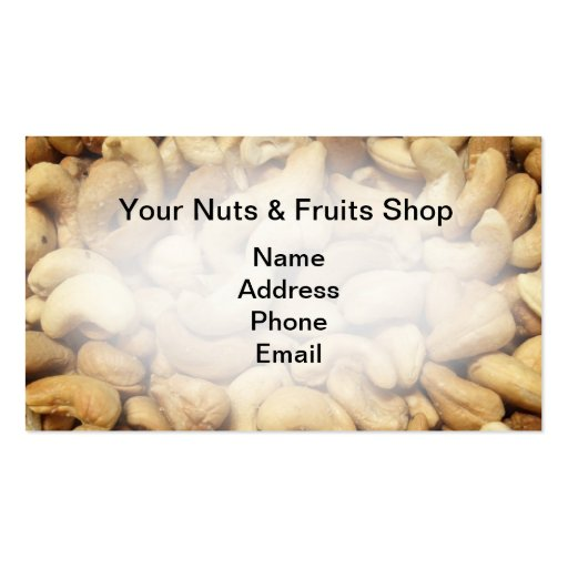 Freshly Roasted Cashew Nuts Business Cards