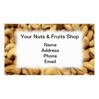 Freshly Roasted Cashew Nuts Pack Of Standard Business Cards