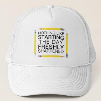 Freshly Sharpened Pencils Funny Trucker Hat