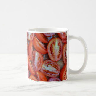 Freshly sliced tomatoes coffee mug