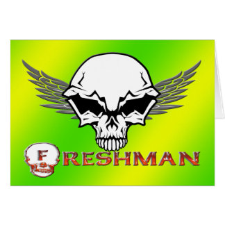 Freshman - Skull Wings Greeting Card