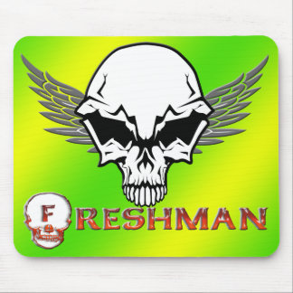 Freshman - Skull Wings Mouse Pad