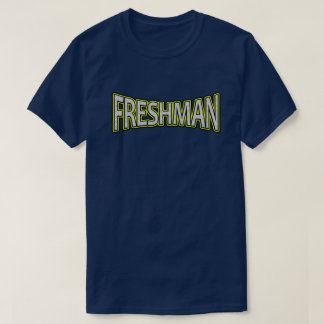 Freshman - The Next Level Yellow Accent T-shirt