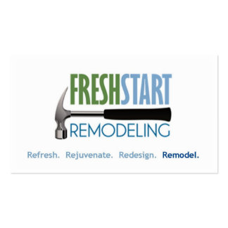 FreshStart Remodeling Pack Of Standard Business Cards