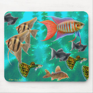 Freshwater Tropical Fish Mousepad