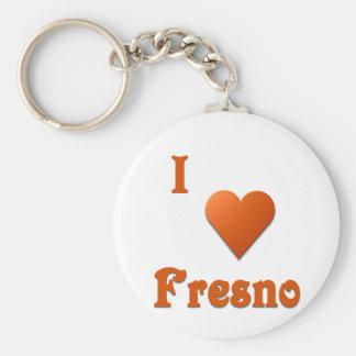 Fresno -- Burnt Orange Basic Round Button Key Ring