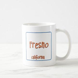 Fresno California BlueBox Basic White Mug