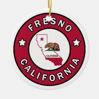 Fresno California Ceramic Ornament