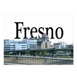 Fresno California with Fresno in the Sky Postcard