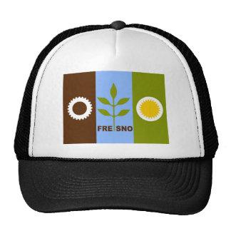 fresno city flag california republic united states mesh hat