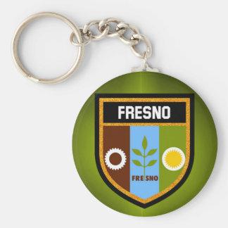 Fresno Flag Basic Round Button Key Ring