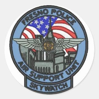 Fresno Police ASU Classic Round Sticker